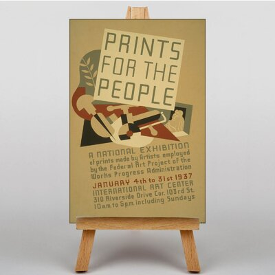 Big Box Art Prints for the People Vintage Advertisement on Canvas