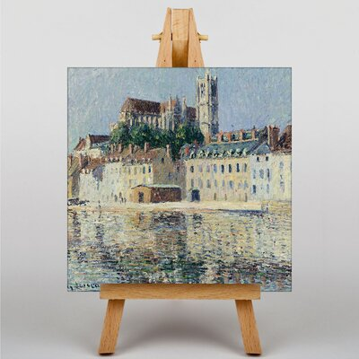 Big Box Art Gustave Loiseau The Cathedral in Auxerre by Gustave Caillebotte Art Print on Canvas