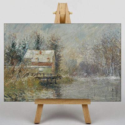 Big Box Art Gustave Loiseau House on the Edge of the Water by Gustave Caillebotte Art Print on Canvas