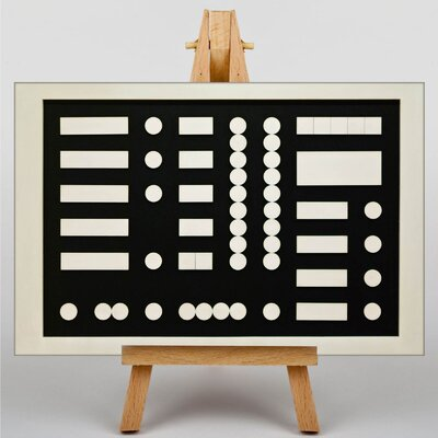 Big Box Art Arp Schematic Composition by Sophie Teauber Graphic Art on Canvas