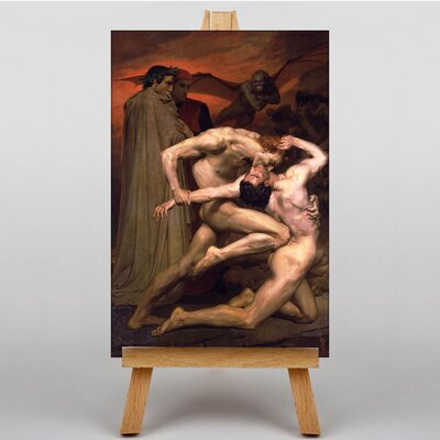 Big Box Art Dante and Virgil in Hell by William Adolphe Bouguereau Art Print on Canvas