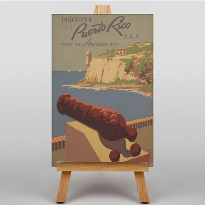 Big Box Art Puerto Rico Vintage Advertisement on Canvas