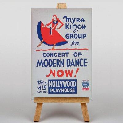 Big Box Art Modern Dance Vintage Advertisement on Canvas