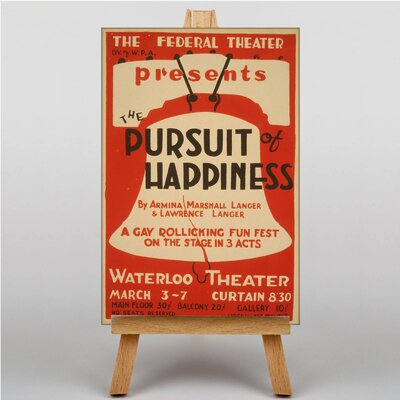 Big Box Art Pursuit of Happiness Vintage Advertisement on Canvas