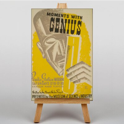 Big Box Art Moments with Genius Vintage Advertisement on Canvas
