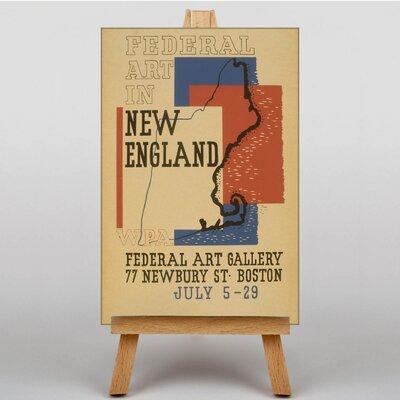 Big Box Art New England Vintage Advertisement on Canvas