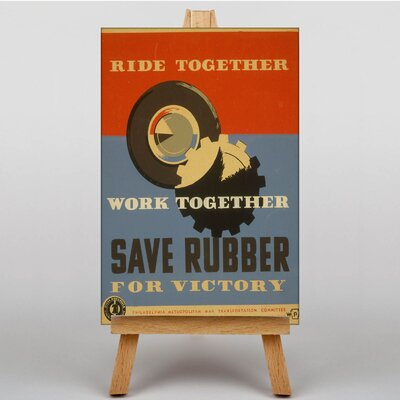 Big Box Art Save Rubber No.2 Vintage Advertisement on Canvas