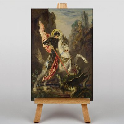 Big Box Art George and the Dragon by Gustave Moreau Art Print on Canvas