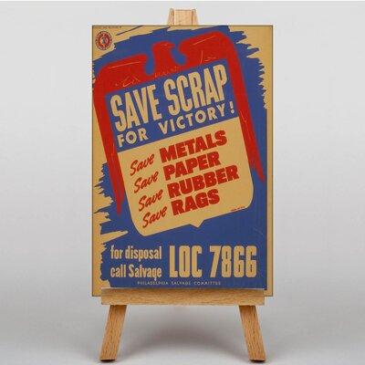 Big Box Art Save Scrap Vintage Advertisement on Canvas