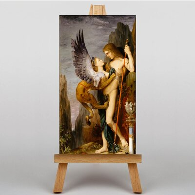 Big Box Art Oedipus and the Sphynx by Gustave Moreau Art Print on Canvas