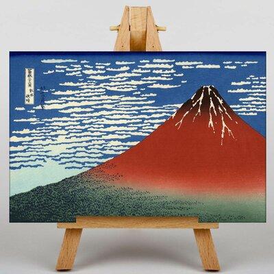 Big Box Art Japanese Oriental Red Mount Fuji by Hokusai Graphic Art on Canvas
