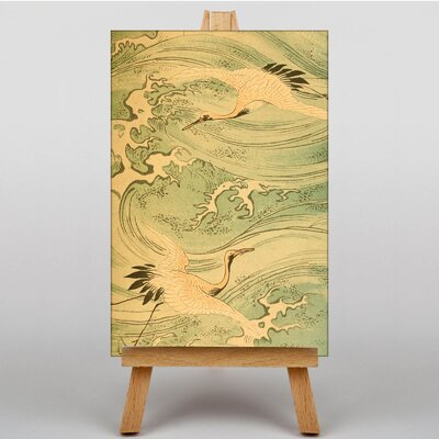 Big Box Art Storks Japanese Oriental Graphic Art on Canvas