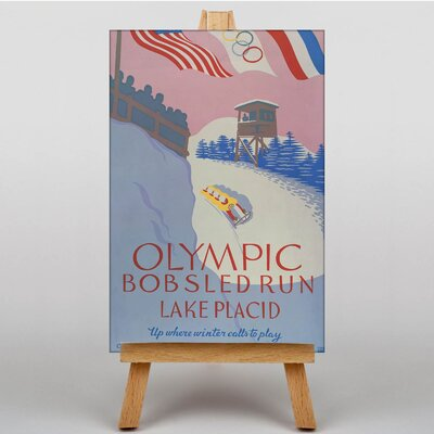 Big Box Art Olympic Bobsled Run Vintage Advertisement on Canvas