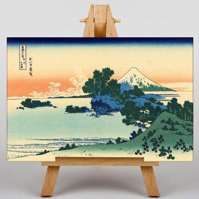 Big Box Art Japanese Oriental Shichiri Beach by Katsushika Hokusai Art Print on Canvas