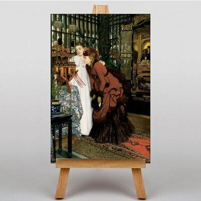 Big Box Art Looking at Art by James Tissot Art Print on Canvas