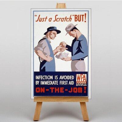 Big Box Art On The Job Vintage Advertisement on Canvas
