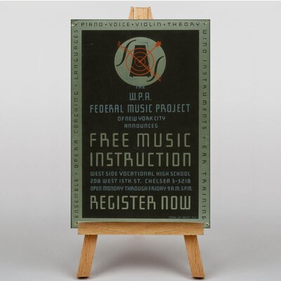 Big Box Art Music Instruction Typography on Canvas