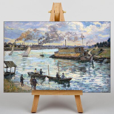 Big Box Art The River Seine Art Print on Canvas