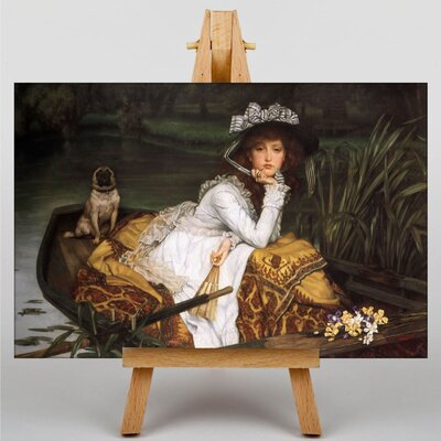 Big Box Art Young Lady in a Boat by James Tissot Art Print on Canvas
