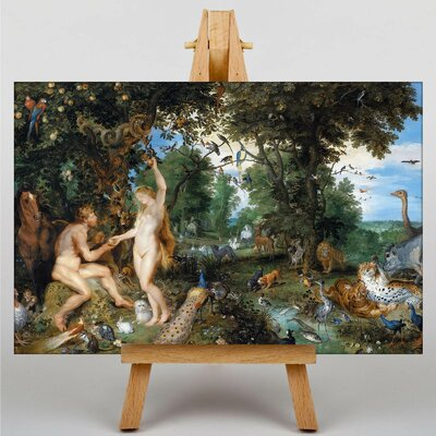 Big Box Art The Garden of Eden with the Fall of Man by Peter Paul Rubens Art Print on Canvas