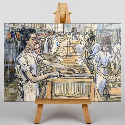 Big Box Art Candle Factory by Jan Toorop Art Print on Canvas