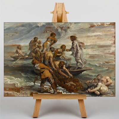 Big Box Art The Miraculous Fish Drought by Peter Paul Rubens Art Print on Canvas