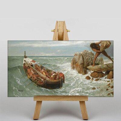 Big Box Art Odysseus and Polyphemus by Arnold Bocklin Art Print on Canvas