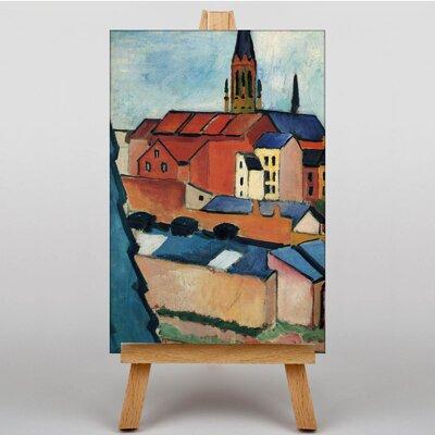 Big Box Art Buildings by August Macke Art Print on Canvas