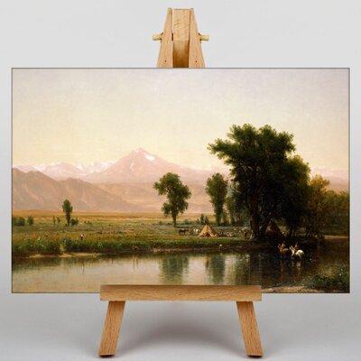 Big Box Art Crossing the River Platte by Thomas Worthington Whittredge Art Print on Canvas