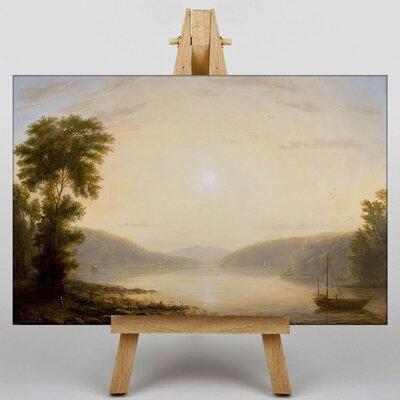 Big Box Art Sunrise over the Hoodson River by Thomas Worthington Whittredge Art Print on Canvas