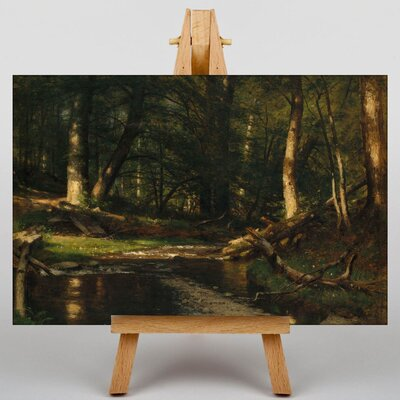 Big Box Art The Brook in the Woods by Thomas Worthington Whittredge Art Print on Canvas