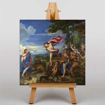 Big Box Art Bacchus and Ariadne by Titian Art Print on Canvas