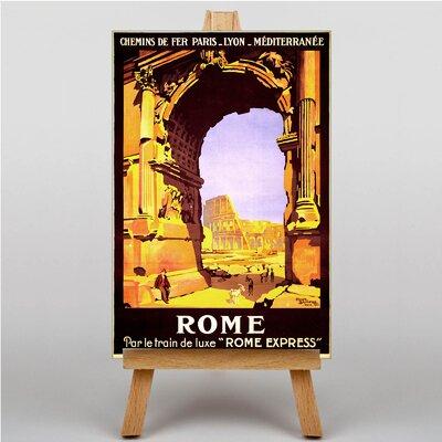 Big Box Art Rome Vintage Advertisement on Canvas