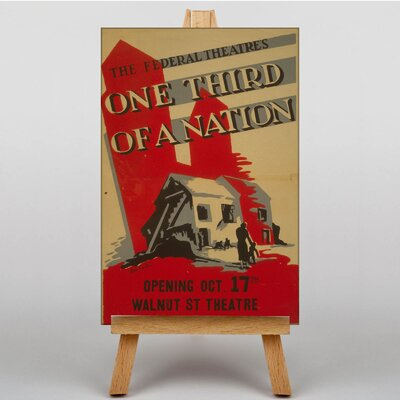 Big Box Art One Third of a Nation Vintage Advertisement on Canvas