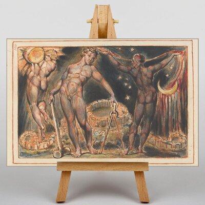 Big Box Art Jerusalem Plate by William Blake Art Print on Canvas