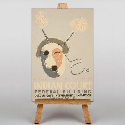 Big Box Art Indian Court No.3 Vintage Advertisement on Canvas