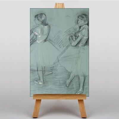 Big Box Art Two Dancers Sketch by Edgar Degas Art Print on Canvas