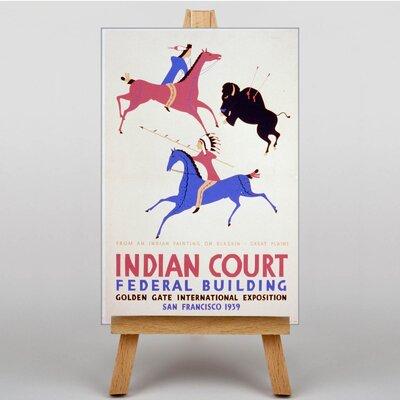 Big Box Art Indian Court Vintage Advertisement on Canvas