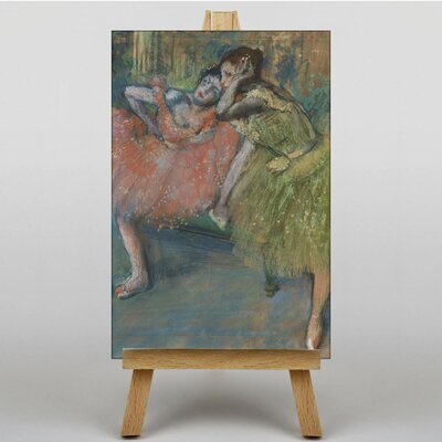 Big Box Art Two Dancers Green and Pink by Edgar Degas Art Print on Canvas