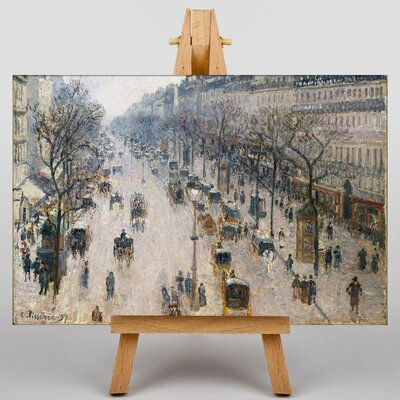 Big Box Art Boulevard Montmartre No.2 by Camille Pissarro Art Print on Canvas