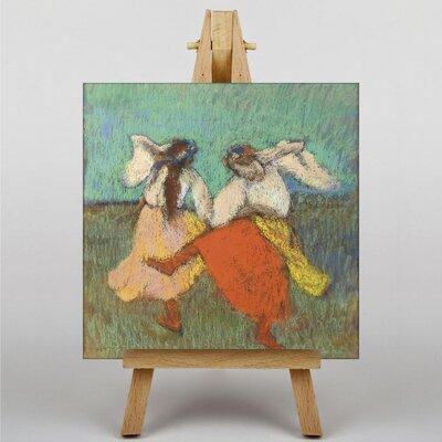 Big Box Art Two Dancers, Orange by Edgar Degas Art Print on Canvas
