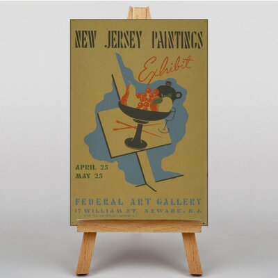 Big Box Art Exhibition No.61 Vintage Advertisement on Canvas