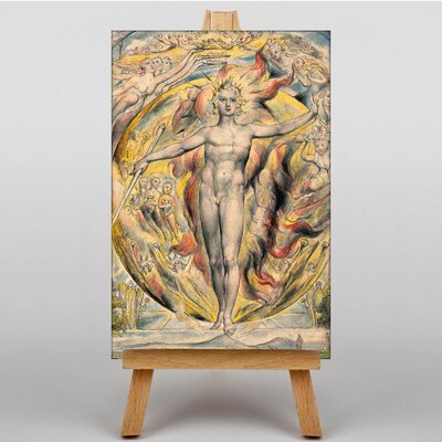 Big Box Art at his Eastern Gate by William Blake Art Print on Canvas