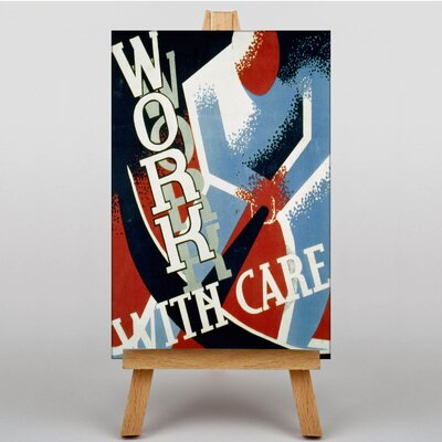 Big Box Art Work with Care Graphic Art on Canvas