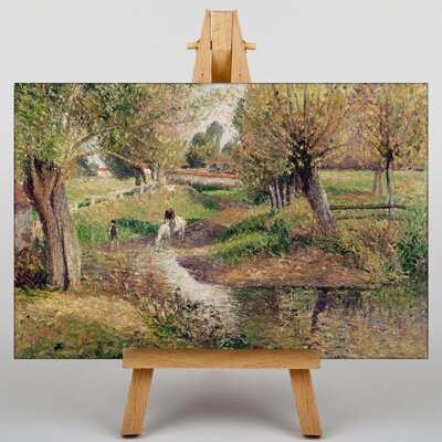 Big Box Art Landscape and Stream by Camille Pissaro Art Print on Canvas