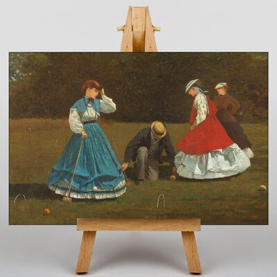 Big Box Art Croquet by Winslow Homer Art Print on Canvas