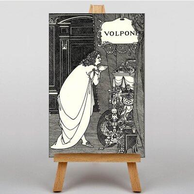 Big Box Art Volpone Adoring His Teasures by Aubrey Beardsley Graphic Art on Canvas