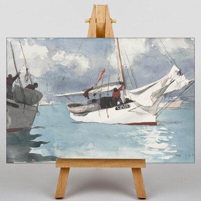 Big Box Art Fishing Boats, Key West by Winslow Homer Art Print on Canvas