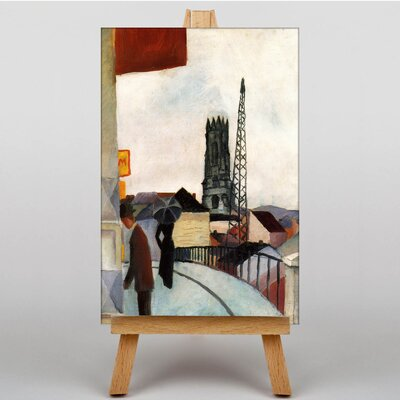 Big Box Art Cathedral by August Macke Art Print on Canvas