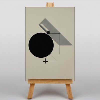 Big Box Art Abstract by El Lissitzky Graphic Art on Canvas